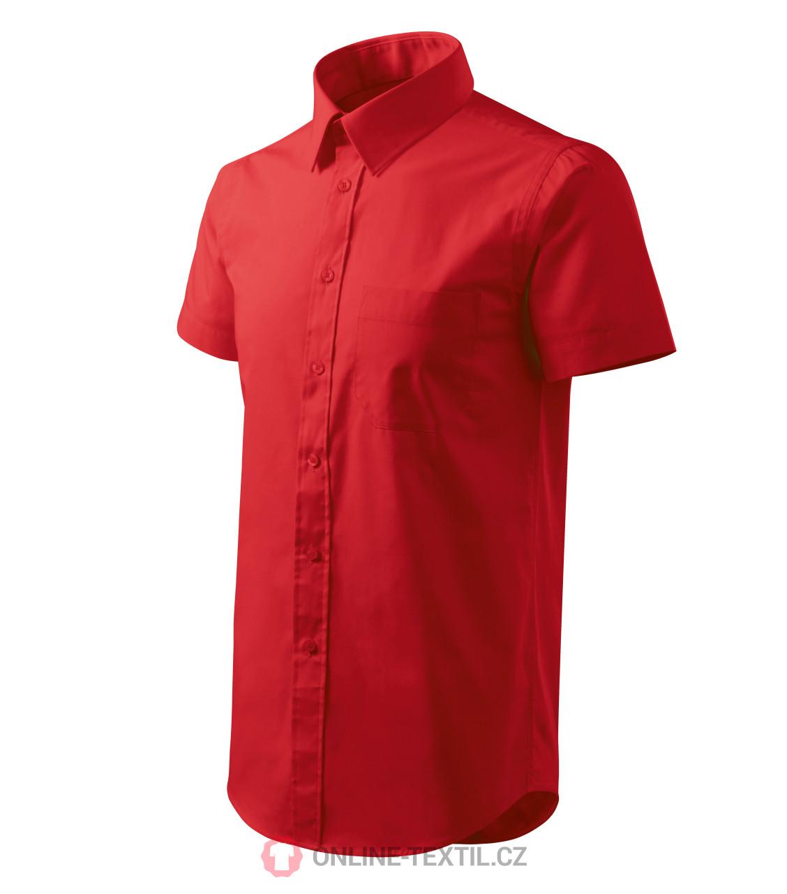 832b170be63b ADLER CZECH Košeľa pánska Shirt short sleeve 2X7 - červená z ...