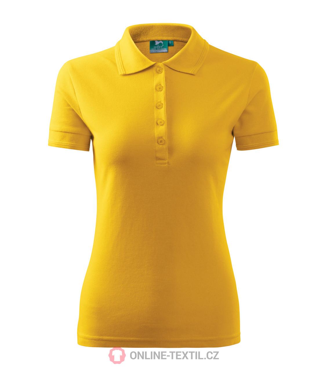 2df20d56f5cf ADLER CZECH Pique Polo polokošeľa dámska 21A - žltá z kolekcie ...
