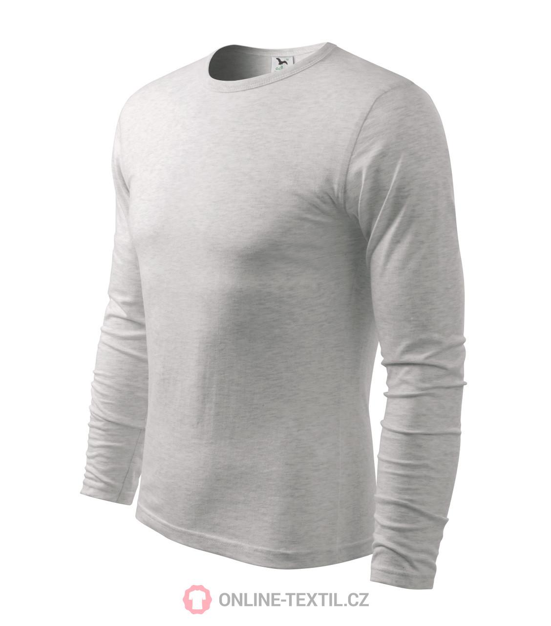 7a103a010 ADLER CZECH Tričko pánske FIT-T Long Sleeve X19 - svetlosivý melír z ...