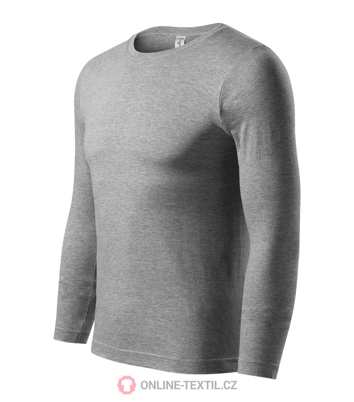 32a1c9838 ADLER CZECH Progress LS tričko unisex PX5 - tmavosivý melír z ...